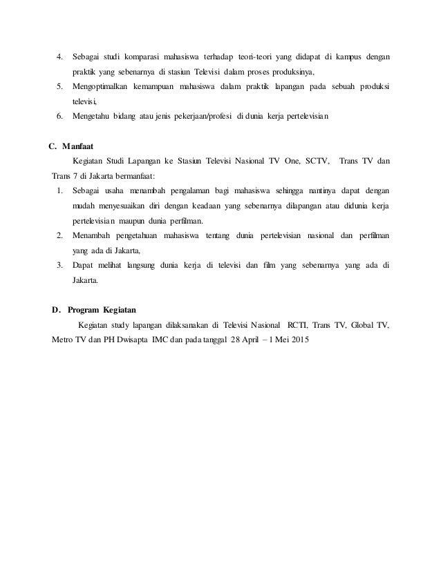 Format Laporan Studi Lapangan Broadcasting Ke Jakarta 2015