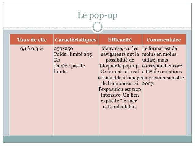 Les formats publicitaires standards for Bloquer ouverture fenetre