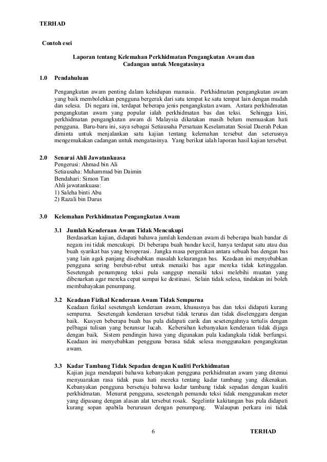 Contoh Karangan Laporan Format Spm Obtenez Livre