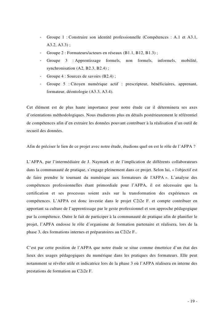 Formateurs Afpa Et Usages Pédagogiques Du Numérique Upn