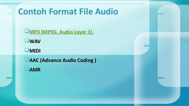 Format File Audio Video