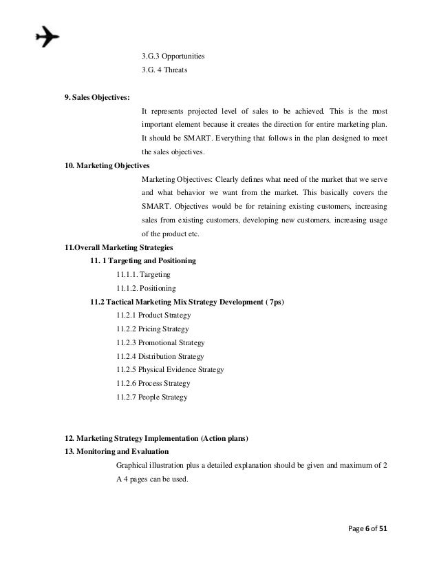 Format for the marketing plan for Apartment marketing plans