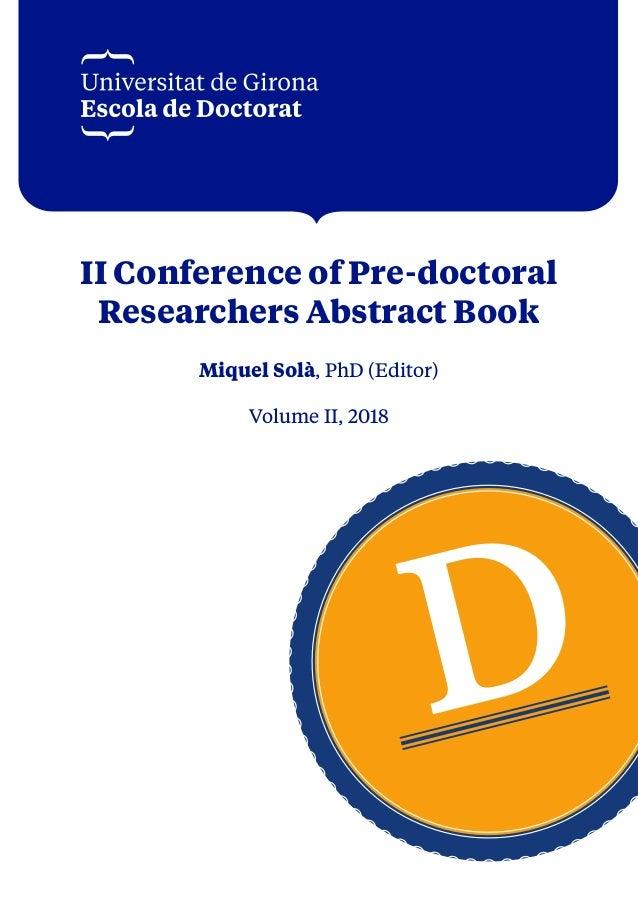 Format Ii Conference Predoctoral 2018 Vdigital
