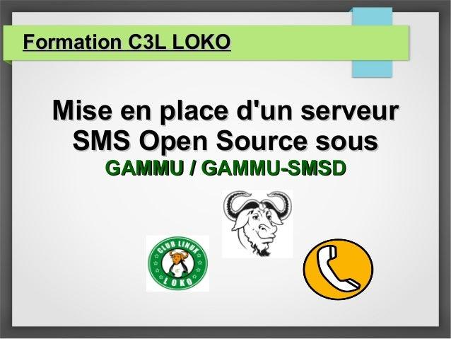 Formation C3L LOKOFormation C3L LOKO Mise en place d'un serveurMise en place d'un serveur SMS Open Source sousSMS Open Sou...
