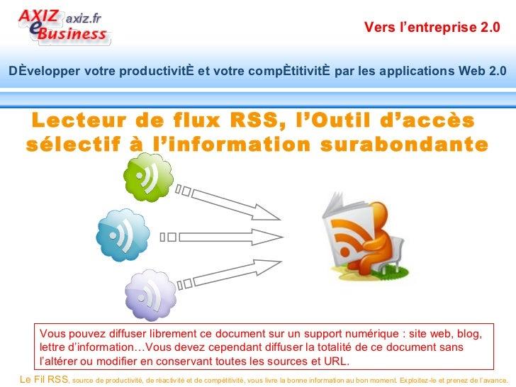 Vers l'entreprise 2.0Développer votre productivité et votre compétitivité par les applications Web 2.0  Lecteur de flux RS...