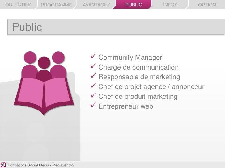 OBJECTIFS          PROGRAMME             AVANTAGES   PUBLIC      INFOS      OPTION  Public                                ...