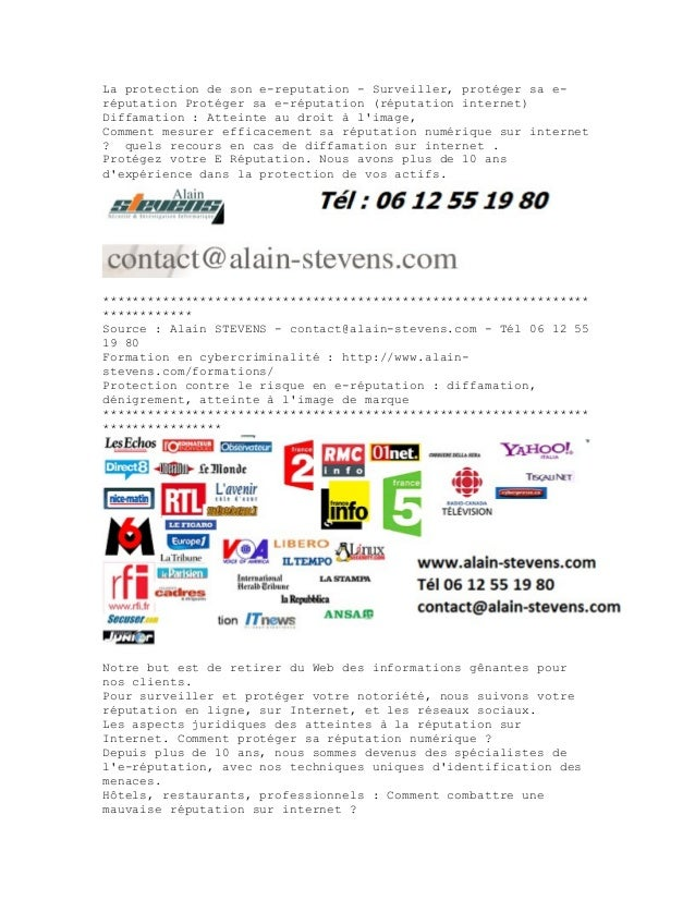 La protection de son e-reputation - Surveiller, protéger sa e- réputation Protéger sa e-réputation (réputation internet) D...