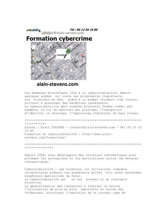 Les dommages économiques liés à la cybercriminalité, depuis quelques années ont connu une progression inquiétante. Les cri...