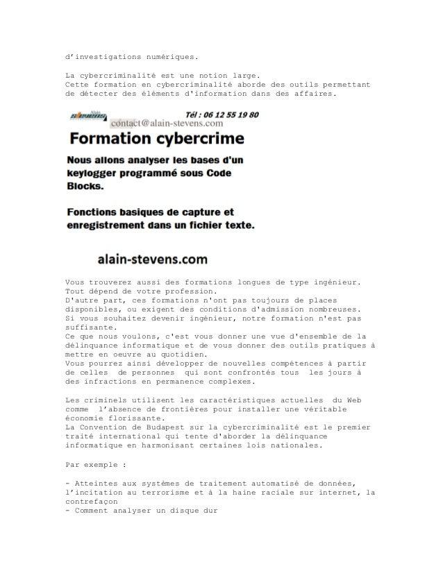 Formation cybercriminalite-alain-stevens Slide 3