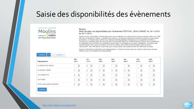 http://info.dispot.servicelogiciel.fr Saisie des disponibilités des évènements