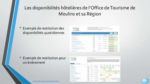 http://info.dispot.servicelogiciel.fr Les disponibilités hôtelières de l'Office deTourisme de Moulins et sa Région • Exemp...