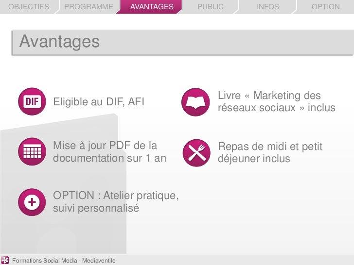 OBJECTIFS          PROGRAMME             AVANTAGES   PUBLIC      INFOS      OPTION  Avantages                             ...