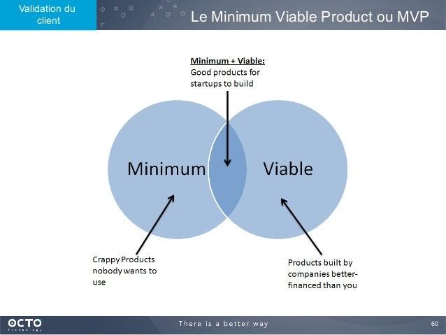 60  Le Minimum Viable Product ou MVP Validation du client