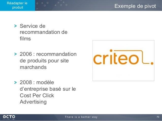 70  ! Service de recommandation de films ! 2006 : recommandation de produits pour site marchands ! 2008 : modèle d'entrep...