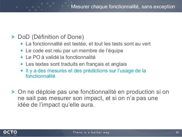 80  ! DoD (Définition of Done) !  La fonctionnalité est testée, et tout les tests sont au vert !  Le code est relu par ...