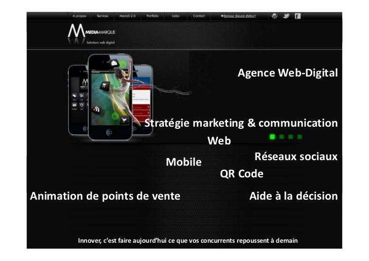 Agence Web-Digital                               Stratégie marketing & communication                                      ...