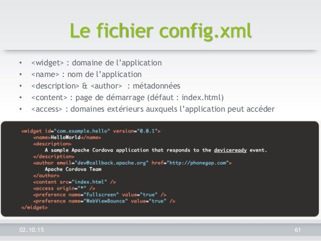 fichier sdk applications android exemple