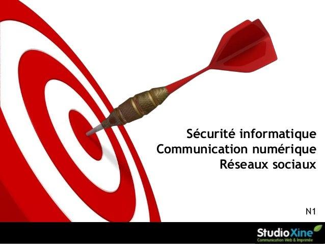Sécurité informatique Communication numérique Réseaux sociaux  N1