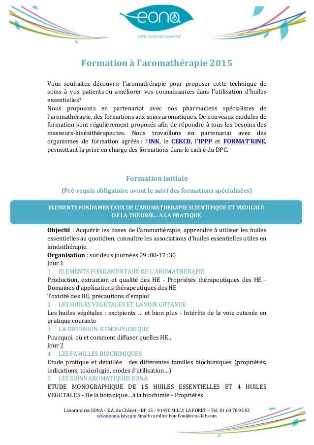Laboratoires  EONA  –  Z.A.  du  Chânet  –  BP  15  –  91490  MILLY  LA  FORET  –  Tél:  ...