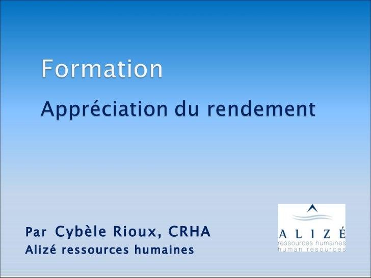 Par Cybèle Rioux, CRHAAlizé ressources humaines