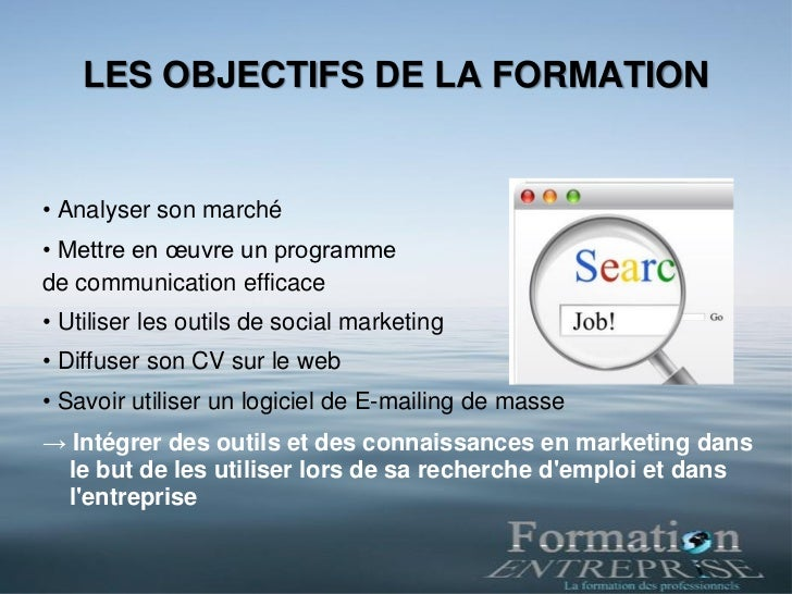 Formation E marketing pour demandeurs d'emploi Slide 2