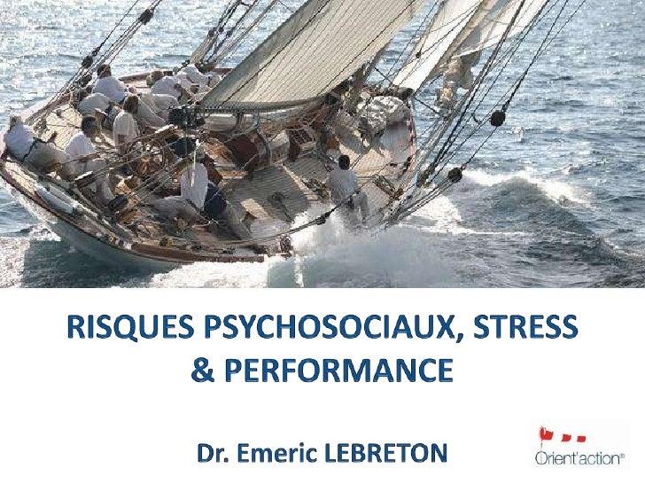 Manager le stress & la performance<br />  La formation pour vos managers<br />ers<br />Formation  - Manager le stress & la...