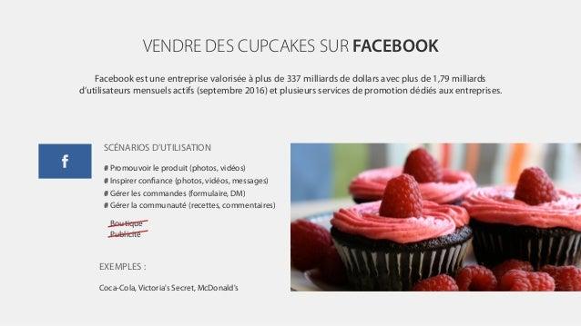 VENDRE DES CUPCAKES SUR FACEBOOK Facebook est une entreprise valorisée à plus de 337 milliards de dollars avec plus de 1,7...