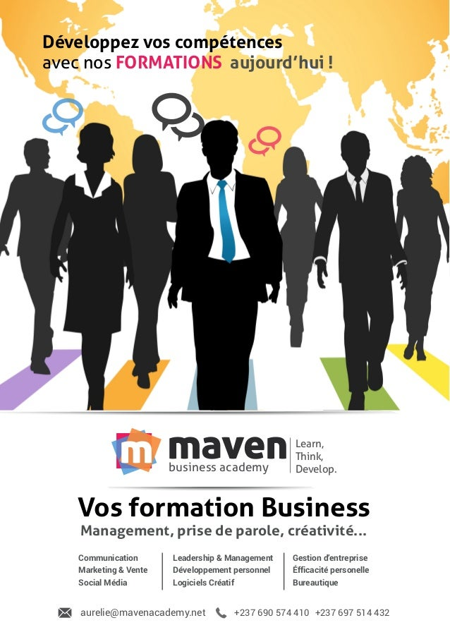 mavenbusiness academy m Learn, Think, Develop. Développez vos compétences avec nos FORMATIONS aujourd'hui ! Communication ...
