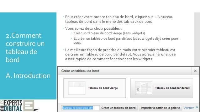 2.Comment construire un tableau de bord A. Introduction  Pour créer votre propre tableau de bord, cliquez sur + Nouveau t...