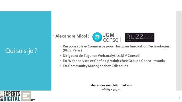 Qui suis-je ?  Alexandre Micol :  Responsable e-Commerce pour Horizzon InnovationTechnologies (Rlizz Paris)  Dirigeant ...
