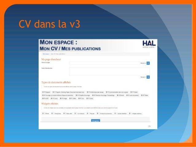 CV dans la v3