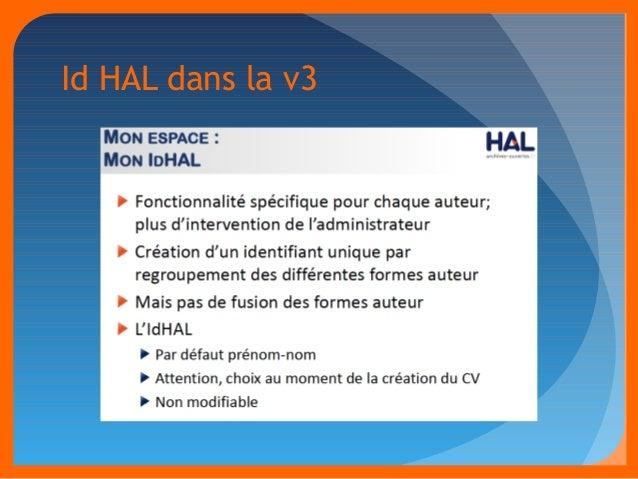 Id HAL dans la v3