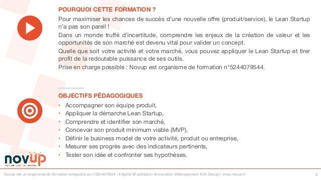 Formation innovation - Optimiser le succès de son projet avec le lean startup Slide 2