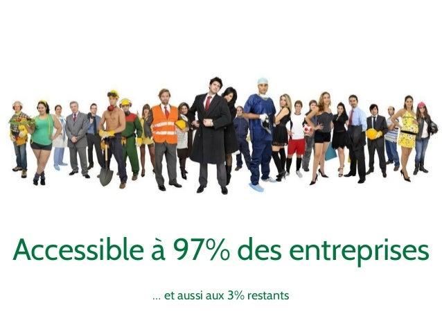 Accessible à 97% des entreprises  … et aussi aux 3% restants