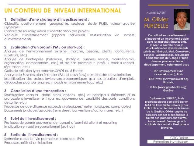 Formation investisseurs CTIC Dakar - Sept 2013  Slide 3