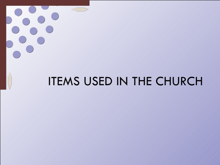 Altar Server Formation Items Used In Church
