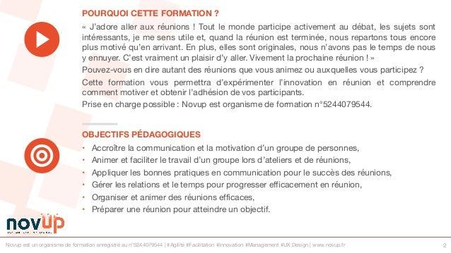 Formation management - Animer des réunions efficaces et ludiques Slide 2