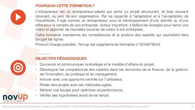 Formation management - Intrapreneur des organisations Slide 2