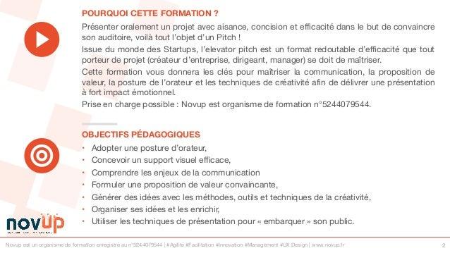 Formation management - Présenter efficacement avec le pitch Slide 2