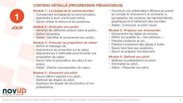 Formation management - Présenter efficacement avec le pitch Slide 3