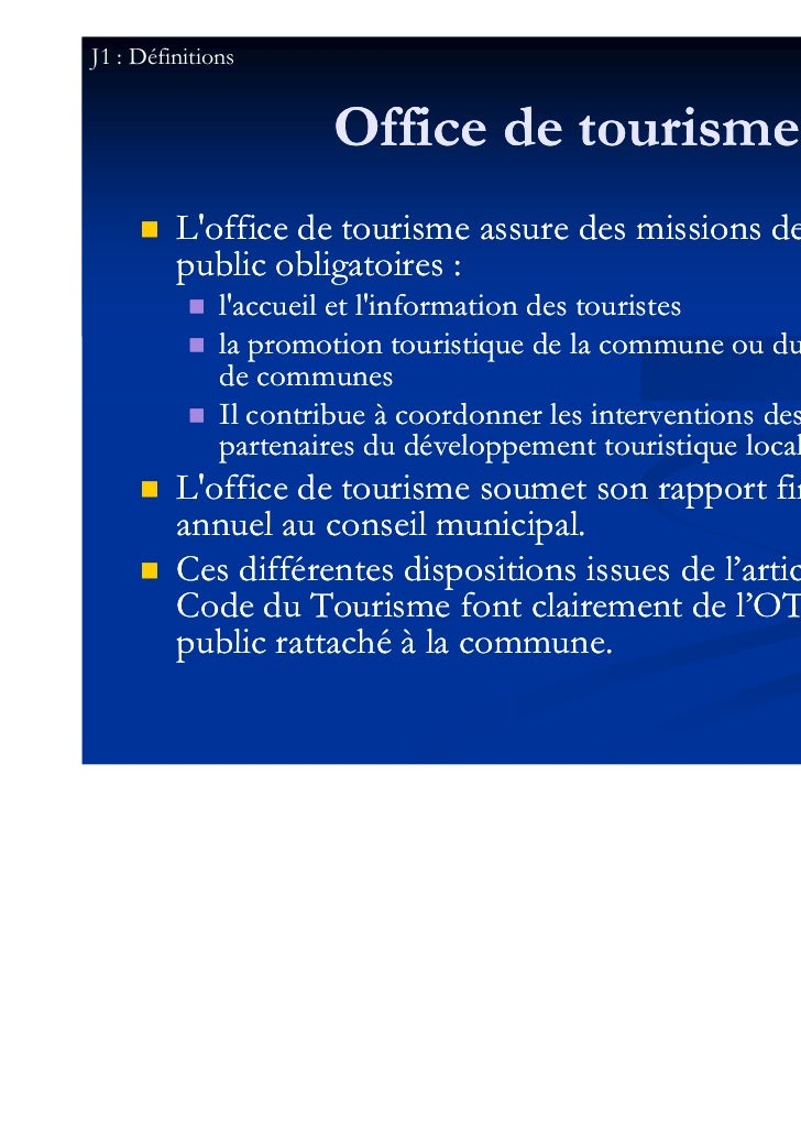 Instituer un office de tourisme de statut public epic - Allegre les fumades office de tourisme ...