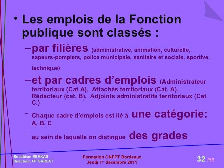 Formation mopa cnfpt r le et statut du directeur d 39 epic - Grille indiciaire de la fonction publique ...