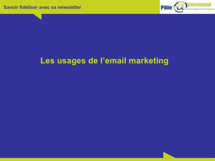 Les usages de l'email marketing