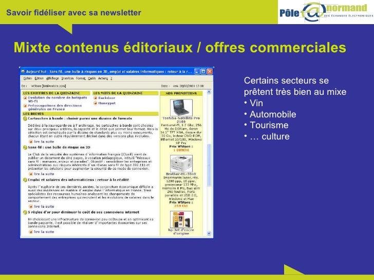 Mixte contenus éditoriaux / offres commerciales <ul><li>Certains secteurs se </li></ul><ul><li>prêtent très bien au mixe <...