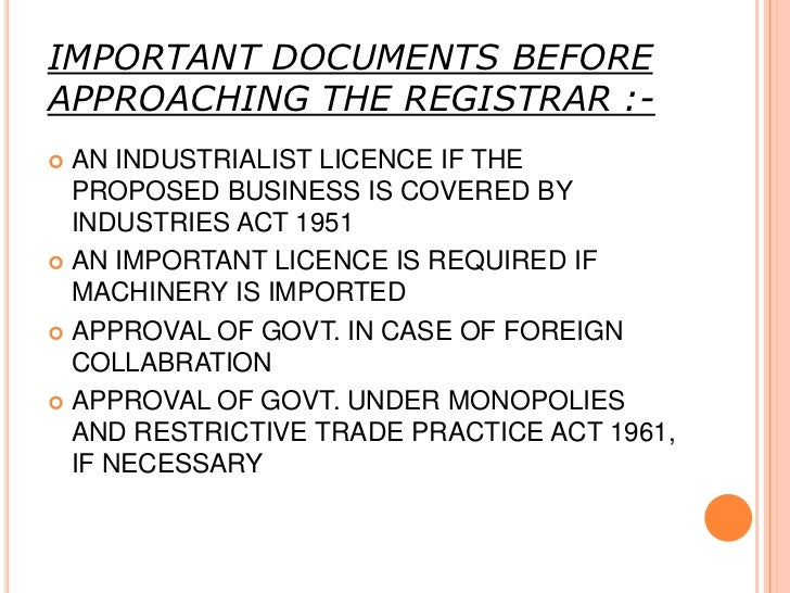 REGISTRATION AND INCORPORATION OF ACOMPANY:   The second stage for establishment of a company    is to get the company in...