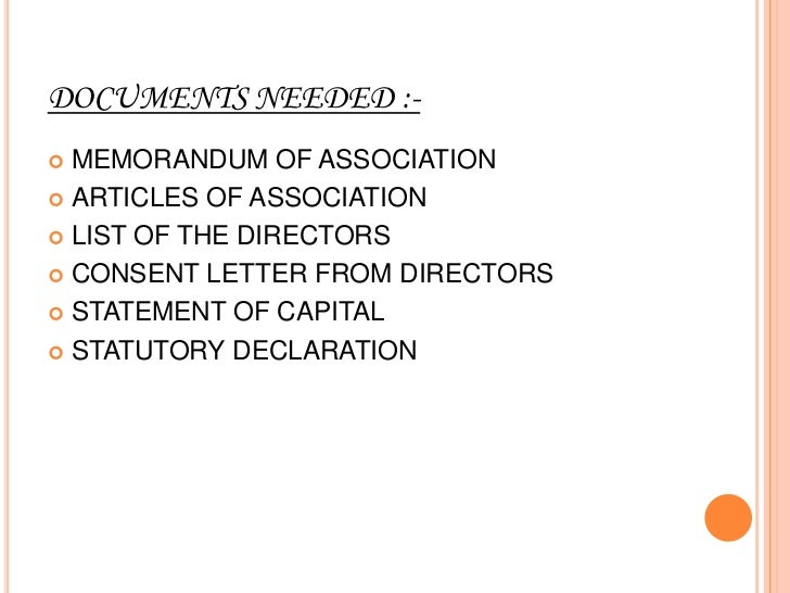 3-Promoters have to file a prospectus or statement in lieu        of prospectus with the registrar.       4-A list of dire...