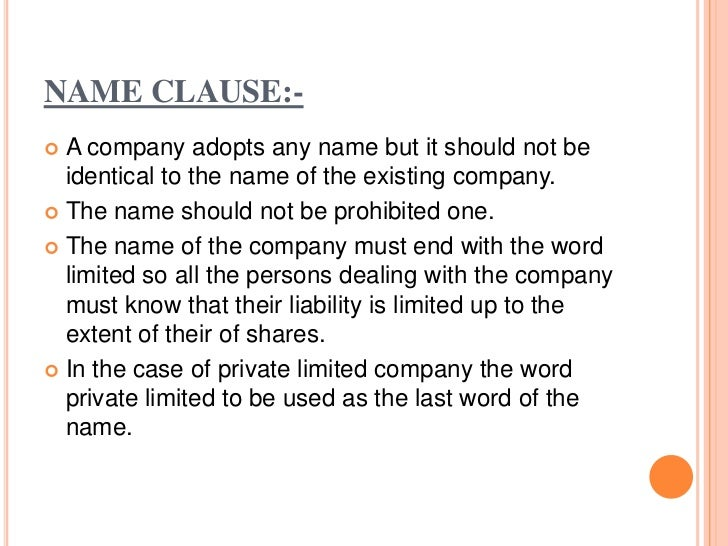 OBJECTIVE CLAUSE :- It is the essence of memorandum. it clearly defines  the sphere of the company activities. It indicat...