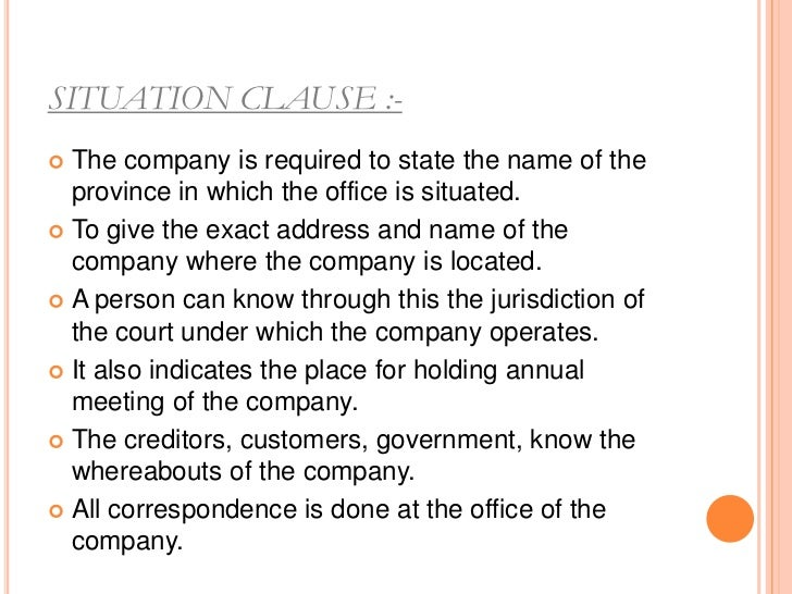 LIABILITY CLAUSE :-   THE EXTENT AND NATURE OF THE LIABILITY    OF SHARESHOLDERS SHOULD BE STATED    LIKE     LIMITED LI...