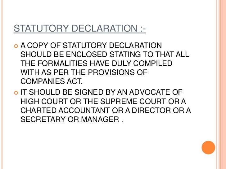 ISSUE OF CERTIFICATE OFINCORPORATION