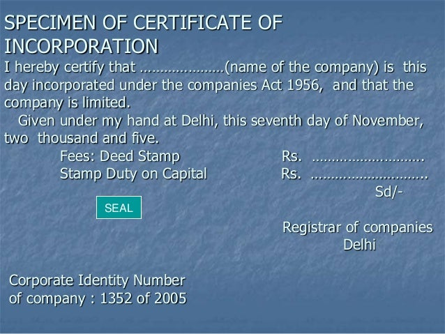 formation company under companies act 1956